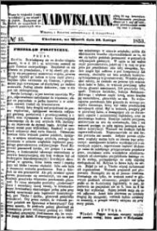 Nadwiślanin, 1853.02.22 R. 4 nr 15
