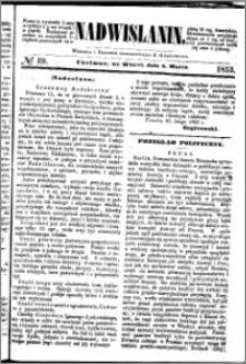 Nadwiślanin, 1853.03.08 R. 4 nr 19