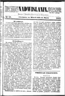 Nadwiślanin, 1853.03.15 R. 4 nr 21
