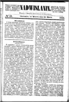 Nadwiślanin, 1853.03.22 R. 4 nr 23