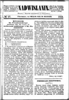 Nadwiślanin, 1853.04.12 R. 4 nr 27