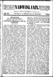 Nadwiślanin, 1853.04.19 R. 4 nr 29