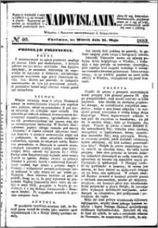 Nadwiślanin, 1853.05.31 R. 4 nr 40