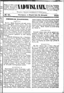 Nadwiślanin, 1853.08.26 R. 4 nr 65