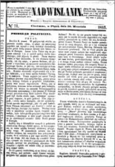 Nadwiślanin, 1853.09.16 R. 4 nr 71