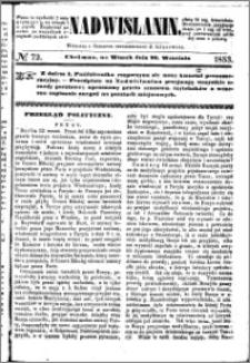 Nadwiślanin, 1853.09.20 R. 4 nr 72