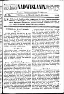 Nadwiślanin, 1853.09.27 R. 4 nr 74