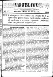 Nadwiślanin, 1853.09.30 R. 4 nr 75