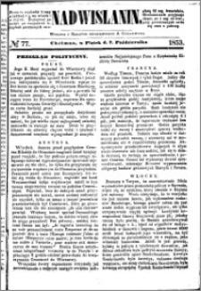 Nadwiślanin, 1853.10.07 R. 4 nr 77