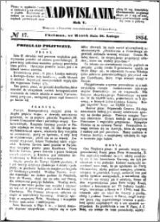 Nadwiślanin, 1854.02.28 R. 5 nr 17