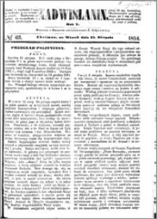 Nadwiślanin, 1854.08.15 R. 5 nr 63