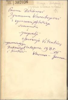 Pojęcia i twierdzenia implikowane przez pojęcia istnienia : 1917-1932