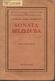 Sonata Belzebuba czyli Prawdziwe zdarzenie w Mordowarze : sztuka w 3-ch aktach