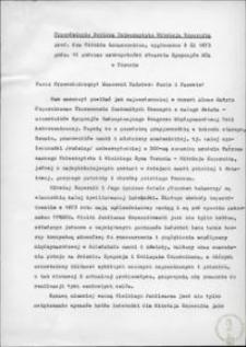 Przemówienie Rektora Uniwersytetu Mikołaja Kopernika Witolda Łukaszewicza, wygłoszone 5 września 1973 r.