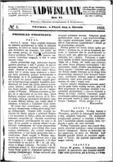 Nadwiślanin, 1855.01.05 R. 6 nr 1