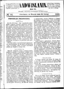 Nadwiślanin, 1855.02.20 R. 6 nr 14