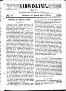 Nadwiślanin, 1855.03.13 R. 6 nr 20