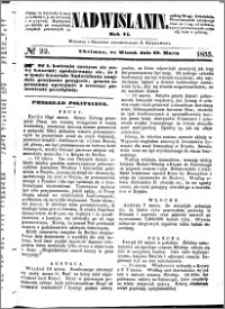 Nadwiślanin, 1855.03.20 R. 6 nr 22