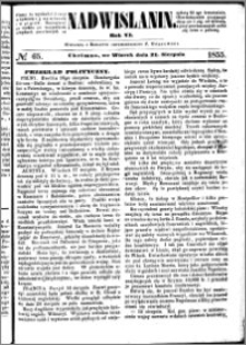 Nadwiślanin, 1855.08.21 R. 6 nr 65