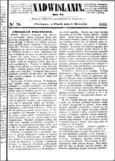 Nadwiślanin, 1855.09.07 R. 6 nr 70