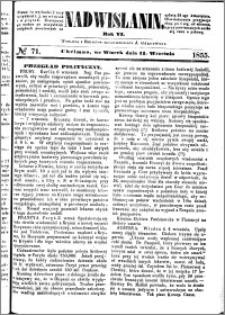Nadwiślanin, 1855.09.11 R. 6 nr 71