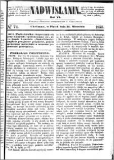 Nadwiślanin, 1855.09.21 R. 6 nr 74