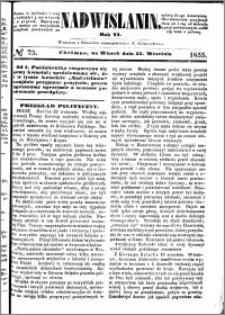 Nadwiślanin, 1855.09.25 R. 6 nr 75