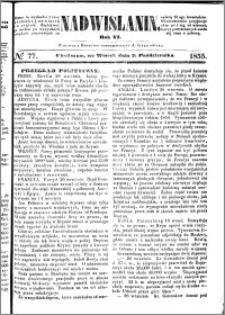 Nadwiślanin, 1855.10.02 R. 6 nr 77