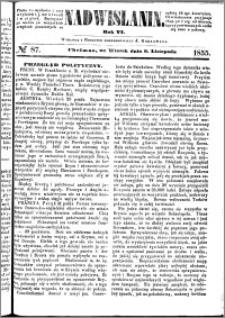 Nadwiślanin, 1855.11.06 R. 6 nr 87