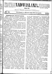 Nadwiślanin, 1855.11.20 R. 6 nr 91