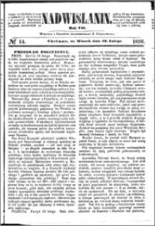 Nadwiślanin, 1856.02.19 R. 7 nr 14