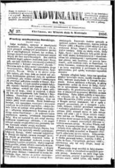 Nadwiślanin, 1856.04.08 R. 7 nr 27
