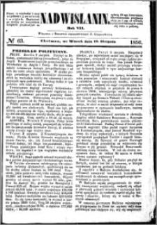 Nadwiślanin, 1856.08.12 R. 7 nr 63