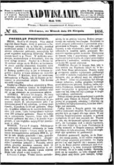 Nadwiślanin, 1856.08.19 R. 7 nr 65