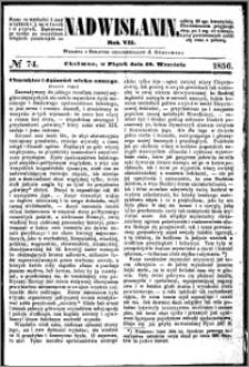 Nadwiślanin, 1856.09.19 R. 7 nr 74