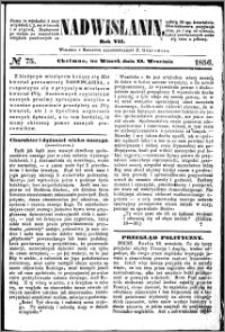 Nadwiślanin, 1856.09.23 R. 7 nr 75