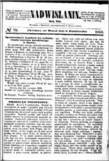 Nadwiślanin, 1856.10.09 R. 7 nr 79