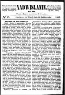 Nadwiślanin, 1856.10.21 R. 7 nr 83