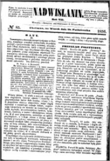 Nadwiślanin, 1856.10.28 R. 7 nr 85
