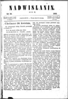 Nadwiślanin, 1858.04.20 R. 9 nr 29