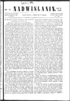 Nadwiślanin, 1858.08.27 R. 9 nr 65