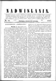 Nadwiślanin, 1859.04.19 R. 10 nr 31
