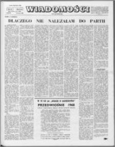 Wiadomości, R. 23 nr 12 (1147), 1968