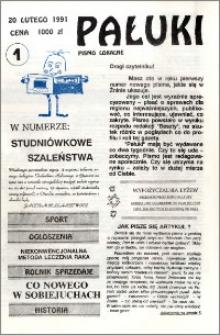 Pałuki. Pismo lokalne 1991.02.20 nr 1