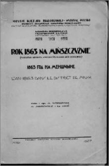 Rok 1863 na Mińszczyźnie : (materjały Archiwum Wydziału IIIb Kancelarji Cesarskiej)