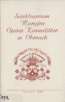 Sanktuarium Maryjne w Oborach : Zarys dziejów, architektury i kultu