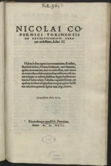 De revolutionibus orbium coelestium, libri VI