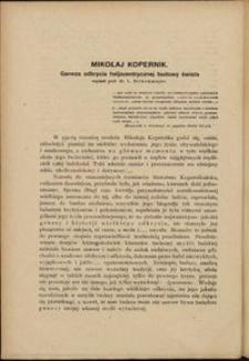 Mikołaj Kopernik. Geneza odkrycia heljocentrycznej budowy świata