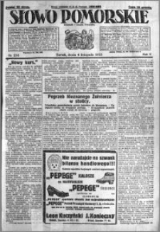 Słowo Pomorskie 1925.11.04 R.5 nr 256