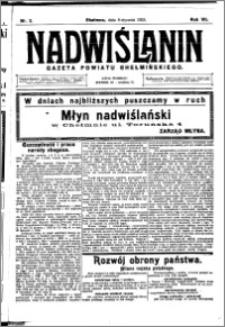Nadwiślanin. Gazeta Ziemi Chełmińskiej, 1925.01.08 R. 7 nr 2